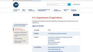 U.S. Department of Agriculture | USAGov
