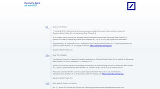 db easyNET - electronic banking system - Deutsche Bank