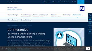 db Interactive - L'home banking di Deutsche Bank