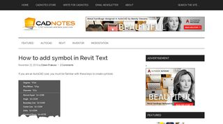 How to add symbol in Revit Text | CADnotes