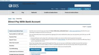 Direct Pay | Internal Revenue Service - IRS.gov