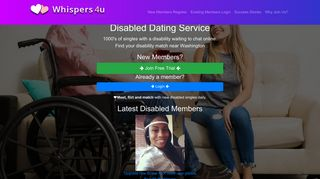 Whispers4u - Disabled Dating Service - Singles & Disability