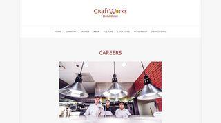 Careers — CraftWorks Holdings - CraftWorks Restaurants