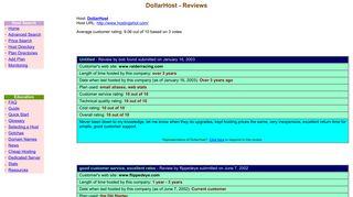 DollarHost - Reviews at Web Hosting Ratings