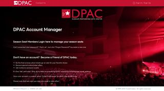 Become a Friend of DPAC
