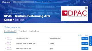 DPAC - Durham Performing Arts Center - Durham   Tickets, Schedule ...