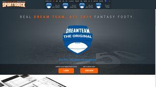 Sportsdeck.com   Dream Team - AFL   Fantasy AFL 2018