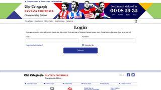 Login - Telegraph Fantasy Football Championship