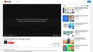 Welcome to DSM Tool - First Steps Tutorial - YouTube