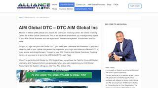 AIM Global DTC - DTC AIM Global Inc - Alliance in Motion Global ...