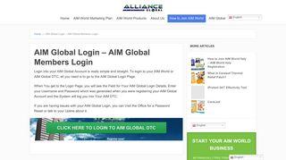 AIM Global Login - AIM Global Members Login | Alliance in Motion ...