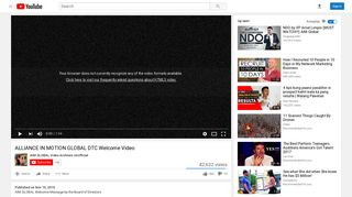 ALLIANCE IN MOTION GLOBAL DTC Welcome Video - YouTube
