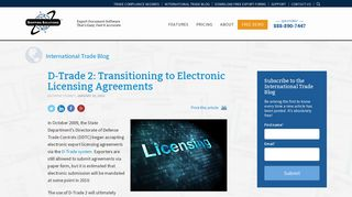 D-Trade 2: Transitioning to Electronic Licensing Agreements