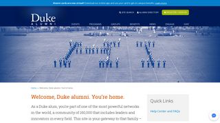 Welcome, Duke alumni. You're home. | Duke