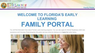 Early Learning Family Portal: Home