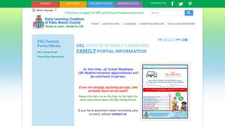 OEL Family Portal | Early Learning Coalition of Palm Beach County