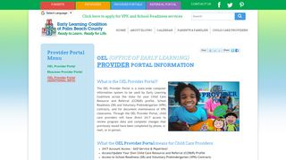 New OEL Provider Portal | Early Learning Coalition of Palm Beach ...