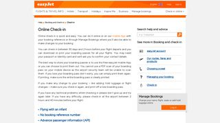 Check-in | easyJet