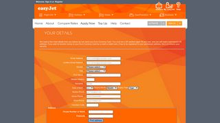 Login here - Euro Currency Card by easyJet