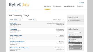 Jobs at Erie Community College - HigherEdJobs