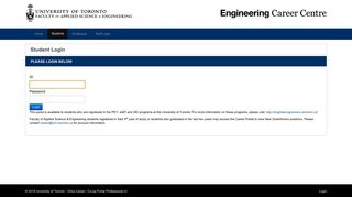 Student Login - UofT Engineering Internship