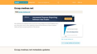 ECCAP Mednax (Eccap.mednax.net) - eCCAP Login - Easycounter