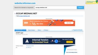 eccap.mednax.net at WI. eCCAP Login - Website Informer