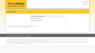 Forgot User Id | Edward Jones Account Access