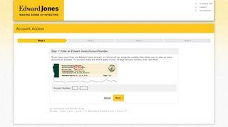 Enroll: Account Validation | Edward Jones Account Access