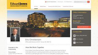 Eric Christiansen | Terrace BC Financial Advisor | Edward Jones