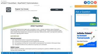 eFAACT QuickStart - MyeFAACT Administration   manualzz.com