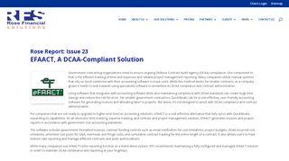 EFAACT, A DCAA-Compliant Solution   Rose Financial