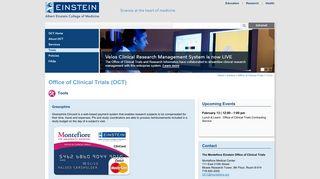 Tools | Office of Clinical Trials (OCT) | Albert Einstein College of ...