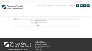 Login - Simcoe County District School Board