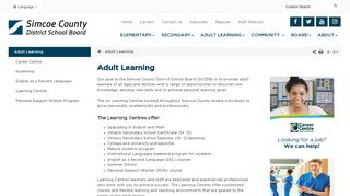 Adult Learning - Simcoe County District School Board
