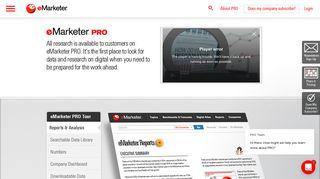 eMarketer PRO Platform & Plans   eMarketer