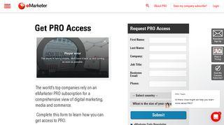 Get PRO Access   eMarketer