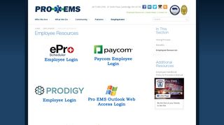Employee Resources - PRO EMS