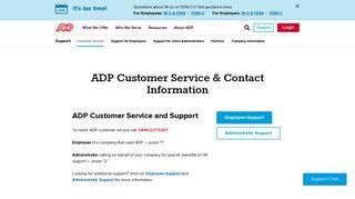 Support - ADP.com