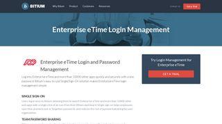Enterprise eTime Login Management - Team Password Manager