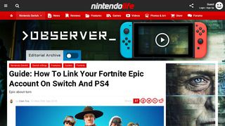 How To Link Your Fortnite Epic Account On Switch And PS4 - Guide ...
