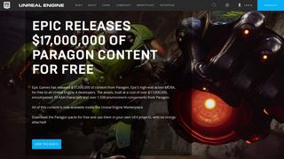 Unreal Engine | $17,000,000 of Paragon content for FREE