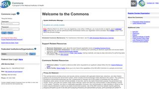Commons Login - eRA Commons - NIH