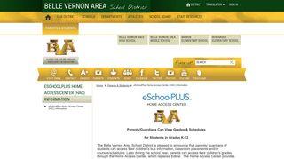 eSchoolPlus Home Access Center (HAC) Information / eSchoolPlus ...