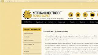 eSchool HAC (Online Grades) • Page - Nederland Independent ...