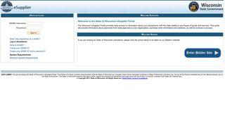 State of Wisconsin eSupplier Portal