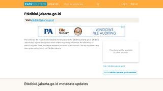 Etkdbkd Jakarta (Etkdbkd.jakarta.go.id) - Easycounter