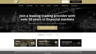 ETX Capital: Forex, Indices, Commodities & CFD Trading
