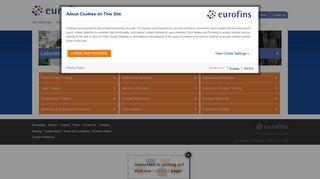 Worldwide laboratory testing services - Eurofins Scientific