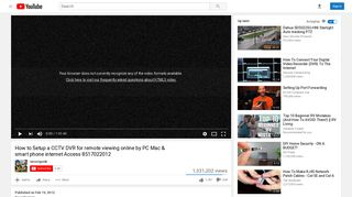 How to Setup a CCTV DVR for remote viewing online by PC Mac ...